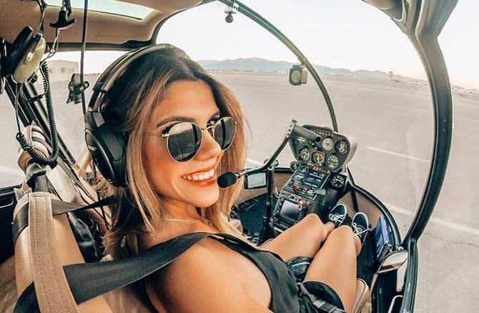 Luana Torres, a piloto de helicóptero sexy que se tornou um sucesso no Instagram