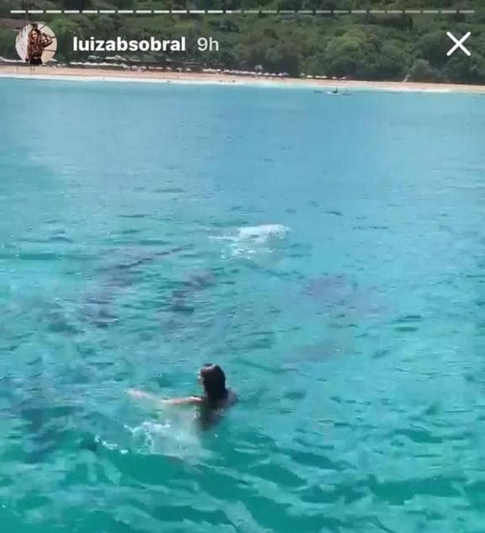 As imagens foram divulgadas por Luiza no stories sua conta no Instagram.
