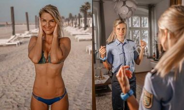 Policial mais sexy da Alemanha anuncia estar de volta a farda