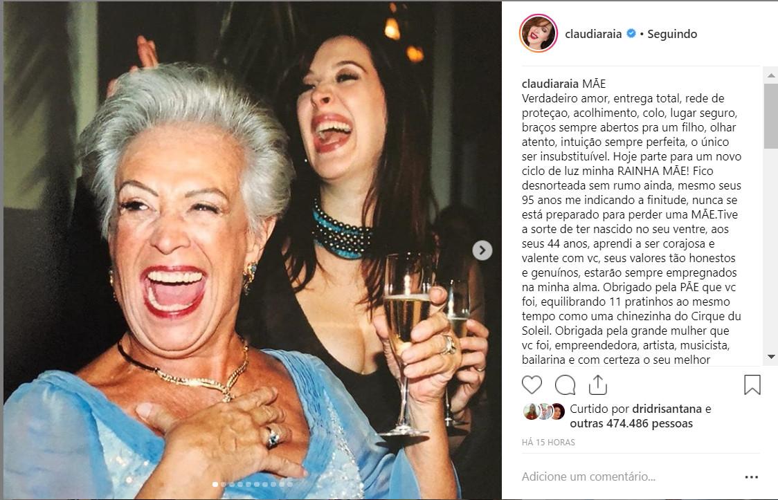 Cláudia Raia e Odette Motta Raia