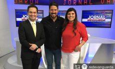 Michelle Sampaio, na TV Vanguarda