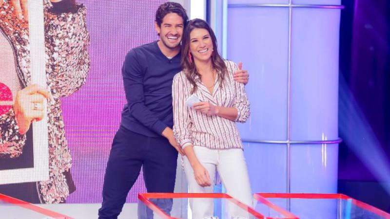 Alexandre Pato e Rebeca Abravanel no SBT