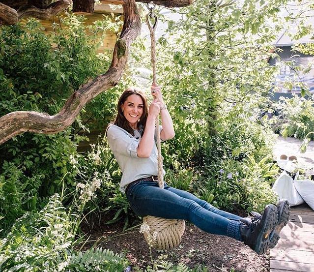 """Kate Middleton participou do desenvolvimento do jardim """"Back to Nature"""" / Foto: Reprodução Instagram"""