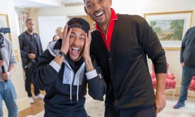 Neymar recebe visita surpresa de Will Smith / Foto: Reprodução Instagram