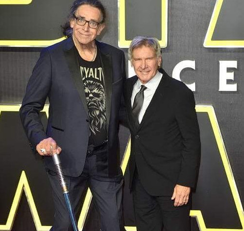 Peter Mayhew, ator que interpretou Chewbacca, ao lado de Harrison Ford / Foto: Reprodução Instagram