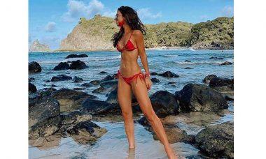 Blogueira é Luiza Sobral multada em R$ 5 mil por nadar com golfinhos em Noronha