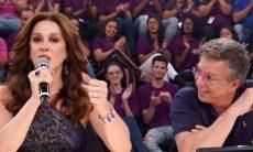 Claudia Raia e Boninho discutem no Domingão do Faustão / Foto: Reprodução TV Globo