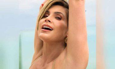 Aos 45 anos Flávia Alessandra publica fotos de ensaio ostentando ótima forma