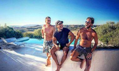 Max Fercondini e Marcello Antony curtem o verão em Portugal