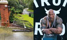 The Rock arranca com as próprias mãos, portão de ferro da parede para não se atrasar. Foto: Instagram
