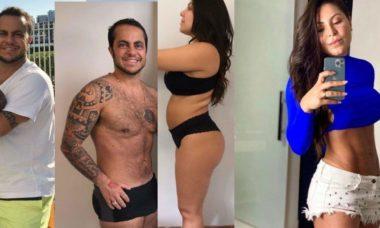 """Andressa Ferreira mostra antes e depois seu e de Tammy: """"engordamos juntos e emagracemos juntos"""""""
