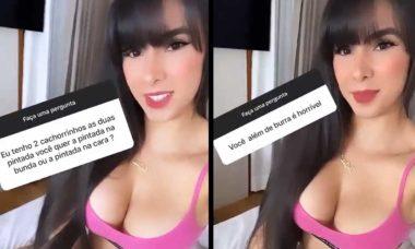 Juliana Caetano responde a seguidor que fez comentário ofensivo. Foto: Reprodução Instagram