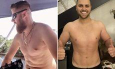 O sertanejo Zé Neto mostra a mudança no corpo após perda de peso