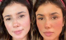 Paula Fernandes mostra a diferença na sua aparência com e sem filtro