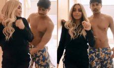 Novo casal? Em vídeo gravado juntos Xamã dá tapinha no bumbum de Anitta