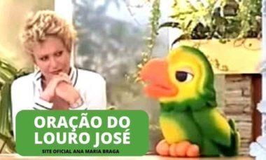 Ana Maria Braga posta oração do Louro José em homenagem a amigo. Foto: Reprodução Twitter