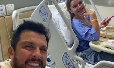 Mirella Santos agradece o apoio dos fãs e o marido, o Ceará, após acidente doméstico