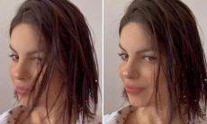 """Após nascimento do filho, Sthefany Brito brinca: """"Deixou lavar o cabelo"""""""