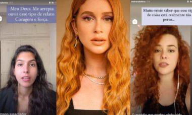 Marina Ruy Barbosa apoio e divulga a história de atrizes que acusam preparador de elenco de assédio