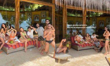 Manu Gavassi e Bruna Marquezine brincam com paparazzis na ilha privativa, veja as fotos