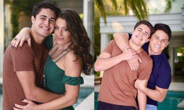 Elaine Mickely e César Filho celebram o aniversário de 17 anos do filho caçula