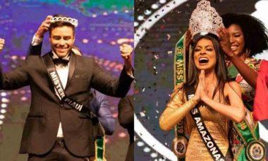 Miss e Mister Brasil 2020: em decisão inédita, Juliana Malveira e Antony Marquez são coroados para mandato duplo