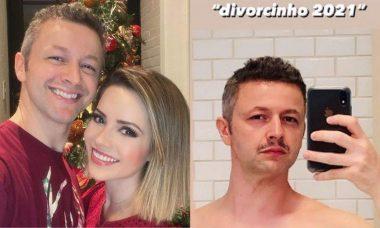 """Lucas Lima surge com novo visual de bigode: """"chamo esse look de 'divorcinho 2021"""""""