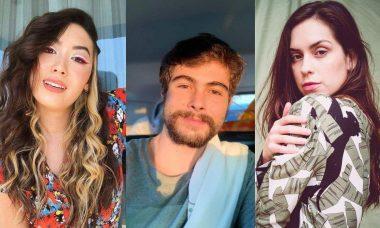 Ana Hikari, Rafa Vitti e Sophia Abrahão protagonizam beijo triplo em 'As Five' e viralizam