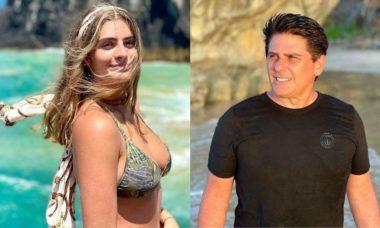 Apresentador, Cesar Filho se declara para a filha em clique durante viagem à Noronha
