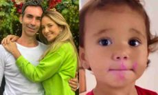 Filha de Tici Pinheiro e Cesar Tralli encanta a web com fofura após passar batom da mãe