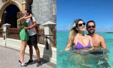 Dani Calabresa é pedida em casamento em frente ao castelo da Disney
