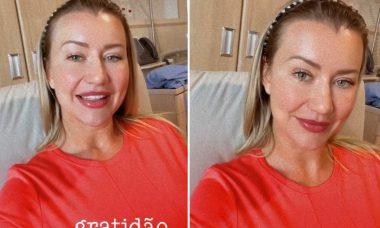 """Ana Paula Siebert passa por cirurgia de emergência: """"Estou ótima"""""""