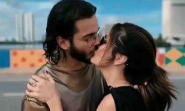 Túlio Gadêlha posta vídeo beijando Fátima Bernardes: 'lado bom da vida'