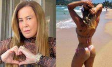 Zilu Godói posa de biquíni em praia brasileira: 'a saudade bateu forte hoje'