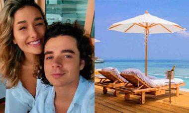 Sasha e marido curtem lua de mel nas Maldivas em resort com diárias de até R$ 106,9 mil