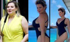 Joice Hasselmann exibe antes e depois de maiô após perder 24 quilos