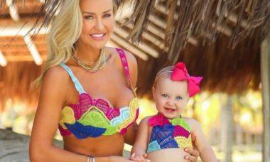 Ana Paula Siebert combina look com filha: 'meu coração não aguenta'