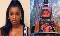 Iza celebra divulgação de sua nova música nos EUA: 'tô na Times Square'