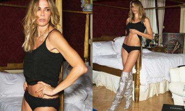 Luciana Gimenez relembra ensaio sensual com bota de R$ 30 mil