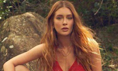 Marina Ruy Barbosa posa em ensaio sensual com lingerie de renda