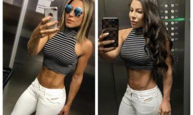 Andressa Ferreira impressiona com corpo antes e depois da gravidez