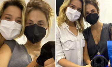 """Fernanda Gentil e esposa adotam cachorrinha: """"Nossa primeira filha"""""""