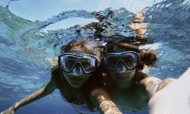 Sasha mergulha com João Figueiredo no último dia nas Maldivas