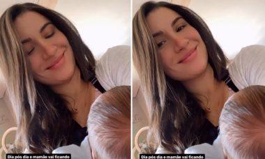 """Bianca Andrade comemora amamentação: """"Ficando craque no mamá"""""""