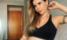 Cacau Colucci celebra sexto mês de gravidez e conta quanto engordou