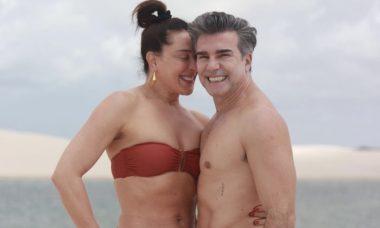 """Claudia Raia faz homenagem para Jarbas Homem de Mello: """"Amo te amar todos os dias"""""""