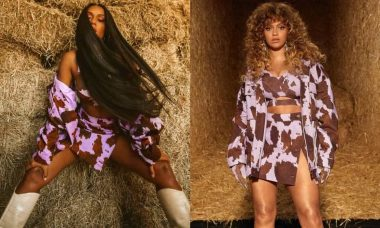 MC Rebecca posa em perfil de roupas de grife da Beyoncé: 'que felicidade'