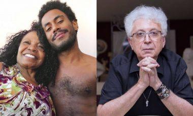 Ícaro Silva posa com a mãe e rebate Aguinaldo Silva: 'ignorância racista'