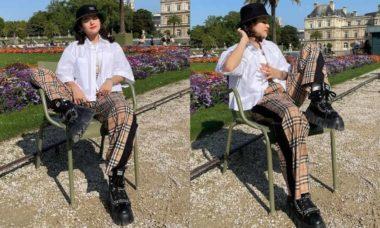 Maísa posa com look fashion e bota avaliada em R$ 6,4 mil em Paris