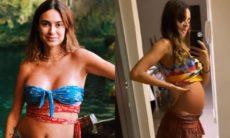 Grávida, Thaila Ayala desabafa ao exibir barriga de cinco meses: 'dói'